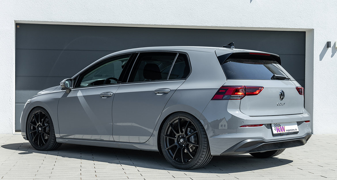 Three brand-new KW coilover suspensions kits for the new VW Golf Mk 8